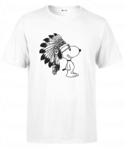T-shirt Snoopy Indian, tee shirt personnalisé T-shirt Snoopy Indian en Tunisie