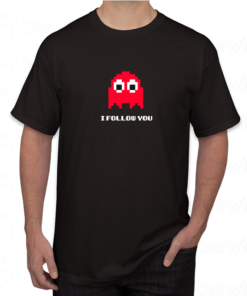 T-shirt i follow you Pac-Man ,tee shirt personnalisé i follow you Pac-Man en Tunisie