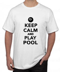 T-shirt keep calm and play pool ,tee shirt personnalisé keep calm and play pool en Tunisie
