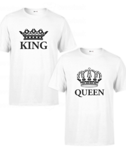 Tee shirts Couple king and queen, T-shirt personnalisé Pour couple en Tunisie