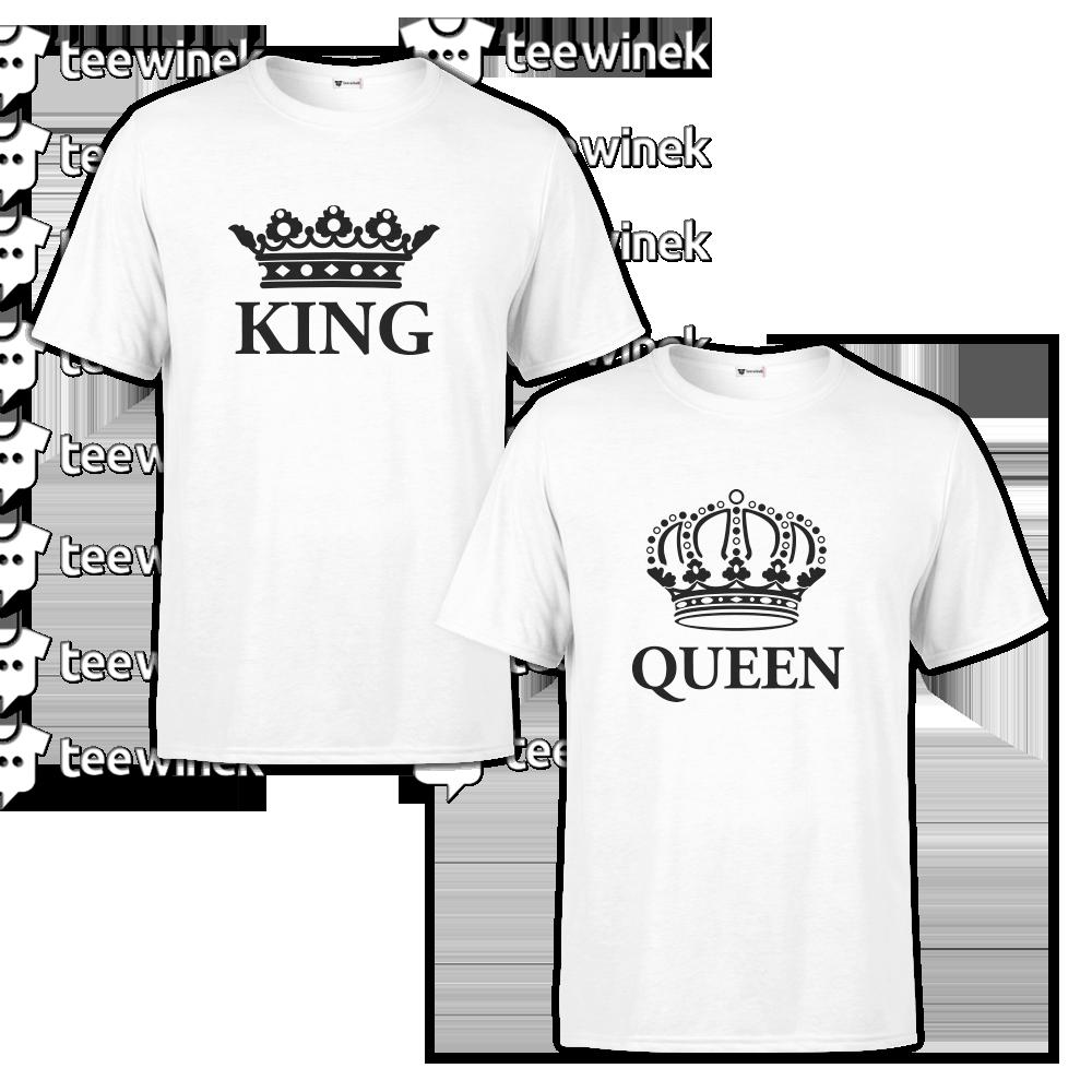 Garantie de satisfaction à 100% profiter de gros rabais prix modéré Tee shirts Couple king and queen