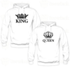 Sweats à capuche couples king and Queen v2, Sweats à capuche personnalisé Pour coupleen Tunisie