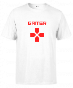 T-shirt Gamer Video Gamer Buttons, tee shirt personnalisé T-shirt Gamer Video Gamer Buttons en Tunisie