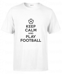 T-shirt keep calm and play football, tee shirt personnalisé T-shirt keep calm and play football en Tunisie
