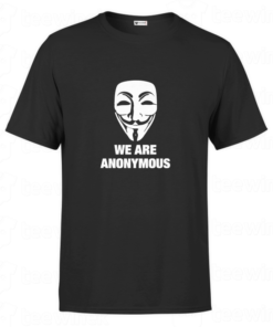 T-shirt we are anonymous, tee shirt personnalisé T-shirt we are anonymous en Tunisie