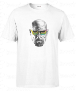 T-shirt breaking bad heisenberg face, tee shirt personnalisé T-shirt breaking bad heisenberg face Tunisie