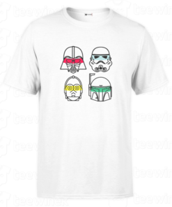 T-shirt star wars Color Lines , tee shirt personnalisé T-shirt star wars Color Lines Tunisie