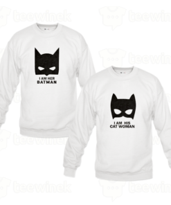 Sweat-shirts Couple Batman et catwoman, Sweat-shirts personnalisé Pour couple en Tunisie