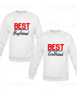 Sweat-shirts Couple best girl friend and best boyfriend, Sweat-shirts personnalisé Pour couple en Tunisie