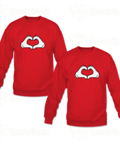 Sweat-shirts Couple hand love, Sweat-shirts personnalisé Pour couple en Tunisie