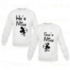 Sweat-shirts Couple he's mine she's mine Mickey,Sweat-shirts personnalisé Pour coupleen Tunisie