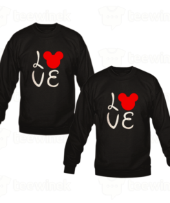 Sweat-shirts Couple love mickey, Sweat-shirts personnalisé Pour couple en Tunisie
