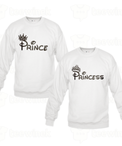 Sweat-shirts Couple prince et princess, Sweat-shirts personnalisé Pour couple en Tunisie
